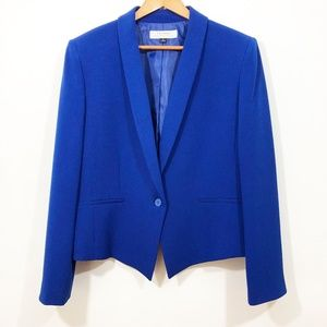 EUC TAHARI royal blue one-button blazer